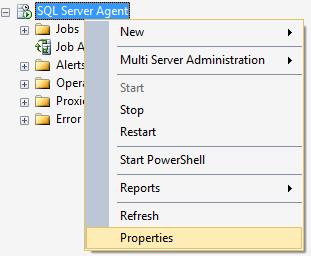 Агент SQL Server в дереве обозревателя объектов